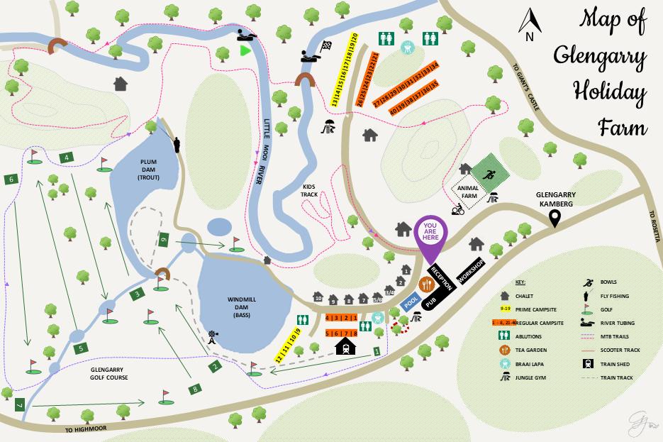 Glengarry Activities Map